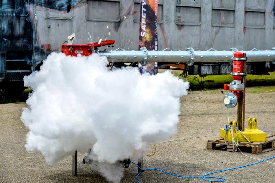Test systemu tłumienia wybuchu