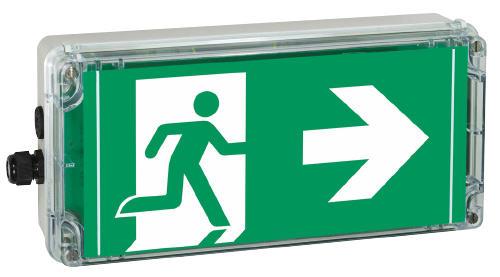 Podświetlane znaki kierunku ewakuacji