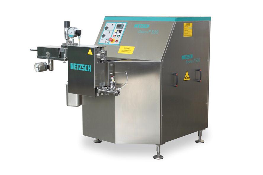 Urządzenie Netzsch Omega do deaglomeracji i dyspersji materiałów podatnych na uszkodzenia