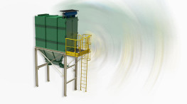 Filtr do odpylania niewybuchowych pyłów ceramicznych