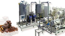 Linia do produkcji czekolady