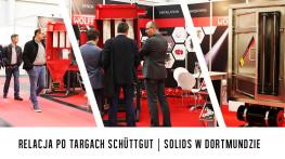 GRUPA WOLFF na targach SCHÜTTGUT | SOLIDS w Dortmundzie