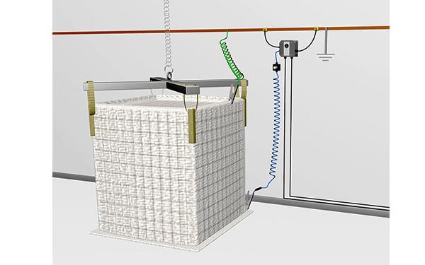 System kontroli uziemienia worków big-bag