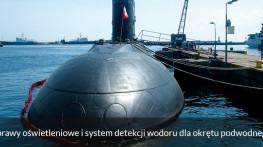Oprawy oświetleniowe i system detekcji wodoru dla okrętu
