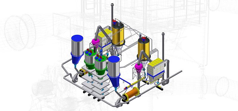 Modelowanie 3D instalacji / Obliczenia MES