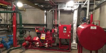 Projekt i zabudowa instalacji awaryjnego zasilania instalacji wody ppoż. przy pomocy pompy zasilanej silnikiem Diesel'a