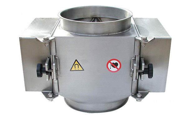 Separatory magnetyczne do montażu na kanałach i przesypach
