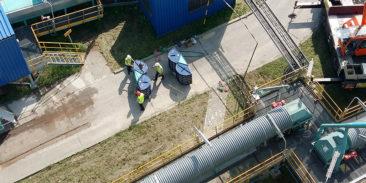Dostawa i montaż czterech układów bezpłomieniowego odciążania wybuchu VQ na silosie paliw w jednej z elektrociepłowni