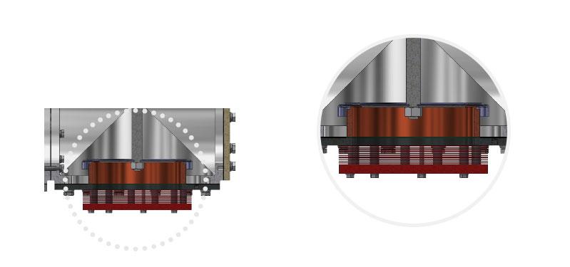 Jednostka filtra płomienia typ TORNADO zintegrowana zzaworem oddechowym