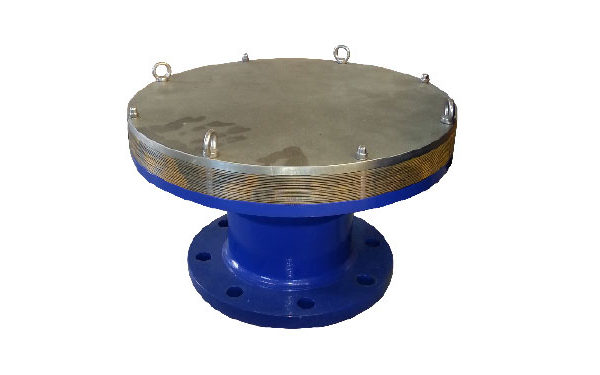 Końcowy przerywacz płomienia deflagracji – wykonanie z jednostką filtra płomienia typu TORNADO wpostaci pierścieni