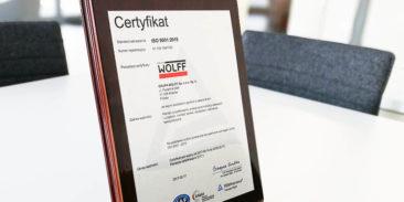 Certyfikacja ISO 9001:2015 na rok 2018 zakończona sukcesem