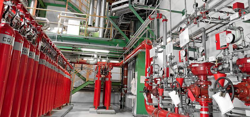 System gaszenia gazem CO2