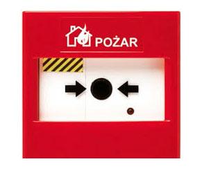 Bezprzewodowy system detekcji pożaru - bezprzewodowy ostrzegacz ręczny