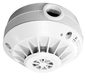 System sygnalizacji pożaru - czujka ciepła