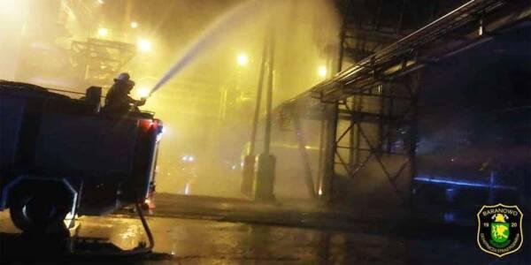 Pożar przenośnika taśmowego w Stora Enso