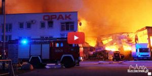 Pożar w fabryce tektury OPAK