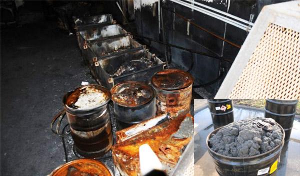 Duża ilość surowego materiału, która stanowiła paliwo dla pożaru