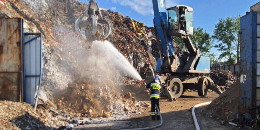 pożar sortowni odpadów