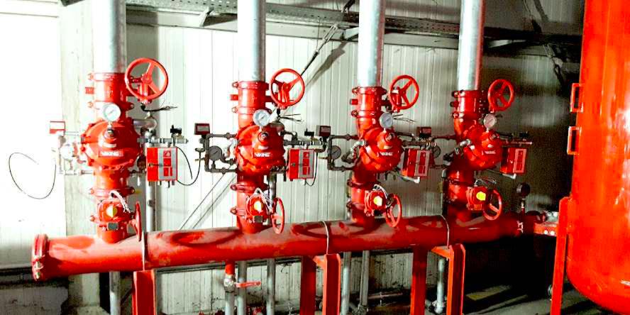 Instalacja gaszenia sortowni odpadów