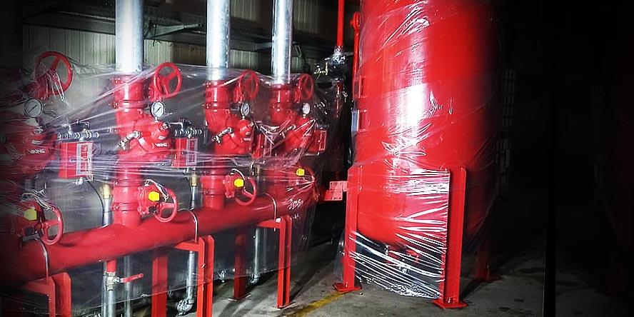 Instalacja zalewowa systemu gaszenia pianą